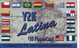 PUERTO RICO - Flags, Y2K By P.R.Internatonal Prepaid Card $10, Used - Puerto Rico