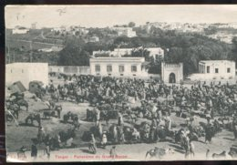 Maroc - Tanger : Panorama Du Grand Socco (carte Double - Tanger