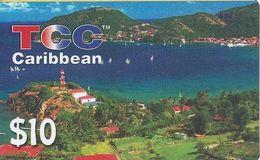 PUERTO RICO - Caribbean, TCC Prepaid Card $10(thin Plastic), Used - Puerto Rico