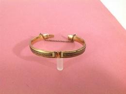 Ancienne Bracelet D. 5 Cm , Métal Ferreux Doré?- Pas De Poiçon - Poids 12 G Jolie - Pulseras