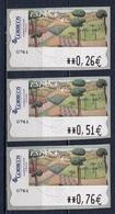 Espagne - Spain - Spanien Distributeur 2003 Y&T N°D82 - Michel N°ATM82 *** - L'été - 3 Timbres - Poststempel - Freistempel