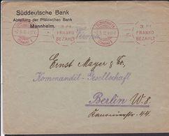 Freistempel Ludwigshafen 3 Pf Franko Bezahlt  1912 (gi64) - Cartas