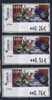 Espagne - Spain - Spanien Distributeur 2003 Y&T N°D83 - Michel N°ATM83 *** - Nature Morte Avec Tulipes - 3 Timbres - Poststempel - Freistempel