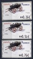 Espagne - Spain - Spanien Distributeur 2003 Y&T N°D84 - Michel N°ATM84 *** - Voiture à Cheval 1850 - 3 Timbres - Poststempel - Freistempel