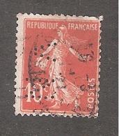 Perforé/perfin/lochung France No 138 VN Mines De Noeux-Vicoigne - Gezähnt (Perforiert/Gezähnt)