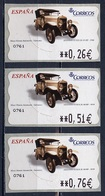 Espagne - Spain - Spanien Distributeur 2003 Y&T N°D86 - Michel N°ATM86 *** - Hispano Suiza - 3 Timbres - Poststempel - Freistempel