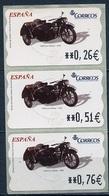 Espagne - Spain - Spanien Distributeur 2004 Y&T N°D89 - Michel N°ATM89 *** - Side Car DKW 1938 - 3 Timbres - Poststempel - Freistempel