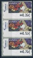 Espagne - Spain - Spanien Distributeur 2004 Y&T N°D95 - Michel N°ATM95 *** - Nature Morte Avec Oranges - 3 Timbres - Machine Stamps (ATM)
