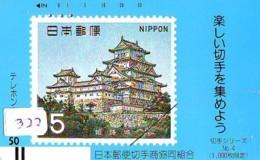 Télécarte Japon *  FRONT BAR * 330-5343 * JAPAN Stamp  (322)  Timbre Sur Télécarte - Stamps & Coins