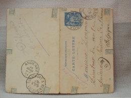 FRANCE BELGIQUE - ENT IER POSTAL CARTE LETTRE - 15c - 4 OBLIT ST AME, CORNIMONT, ANDENNE 1901 - Entiers Postaux