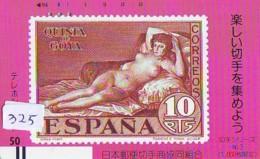 Télécarte Japon *  FRONT BAR * 330-4655 * JAPAN Stamp (325) FEMME * Timbre Sur Télécarte * EROTIQUE ESPANA SPAIN - Stamps & Coins