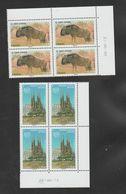FRANCE / 2015 / Y&T SERVICE N° 164/165 ** : UNESCO (Gnou D'Afrique & Sagrada Familia) X 4 - Coin Daté 2015/08/28 - Dienstzegels