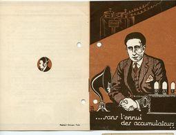 RARE ELECTROGENE SILICIA Livret 8 Pages Superbe Accumulateur Sans Fil TSF Radio BATTERIE ACCU ELECTRICITE - Documentos Antiguos