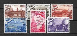 URSS - 1947 - N. 1144/49 USATI (CATALOGO UNIFICATO) - Oblitérés