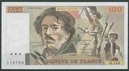Frankreich 100 Francs 1989, Delacroix, KM 154 D Fast Kassenfrisch (K251) - 100 F 1978-1995 ''Delacroix''