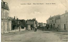 St JEAN  D' ANGELY - PLACE SAINT NAZAIRE - AVENUE De SAINTES - - Saint-Jean-d'Angely