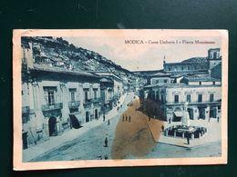 MODICA (RAGUSA)  CORSO UMBERTO I E PIAZZA MONUMENTO  1927 - Modica