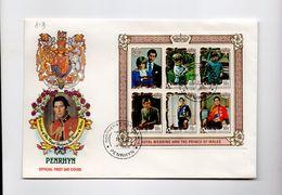 MK819 - PENRHYN 1981 Royal Wedding Souvenir Sheet FDC (2380A) Charles Diana - Penrhyn
