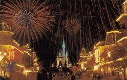 CP DISNEY WORLD - FANTASY IN THE SKY - FIREWORKS - OBLIERATION BERMUDES  1982 - BERMUDA - Disneyworld