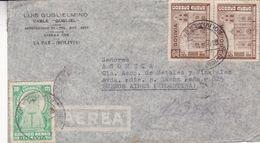 "BOLIVIE ENVELOPPE COMMERCIAL ""CABLE GUGLIEL"", CIRCULEE LA PAZ A BUENOS AIRES, ARGENTINE ANNEE 1943 PAR AVION  -LILHU - Bolivia"