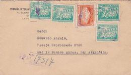 BOLIVIE ENVELOPPE COMMERCIAL COMPAÑIA INTERNACIONAL DE RADIO BOLIVIANA CIRCULEE LA PAZ A BUENOS AIRES CIRCA 1945 -LILHU - Bolivia