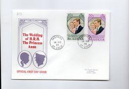 MK823 - ST LUCIA 1973 Marriage Anna  FDC (2380A) - St.Lucia (1979-...)