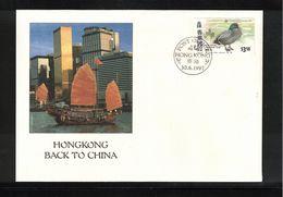 Hong Kong 1997 Hong Kong Back To China Interesting Letter - 1997-... Chinese Admnistrative Region