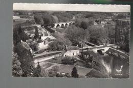 CP (45) En Avion Au Dessus De ...  Pont-aux-Moines - Pont - Viaduc - Bords Du Canal - France