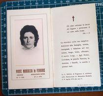 Necrologio Luttino - PONTE MARIUCCIA In FERRARIS (nascita 1933 Morte 1978 Monastero Bormida Asti ) - Décès