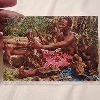 Old Postcard EBONY CARVER EBENHOLZ SCHMITZER Lusaka Zambia '60.s - Zambie