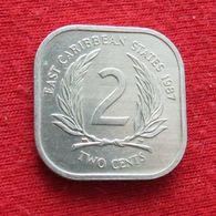 East Caribbean States 2 Cents 1987 Caribbean Caraibas Caraibes Orientales Wºº - Caribe Oriental (Estados Del)