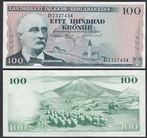 Iceland - Island 100 Kronur 1957 Pick 40a VF+ (3+)   (25238 - Island
