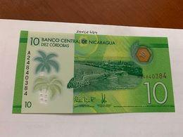 Nicaragua 10 Cordobas Uncirc. Polymer Banknote 2014 #2 - Nicaragua