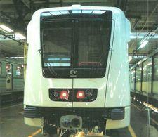 UNDERGROUND SUBWAY METRO RAIL RAILWAY RAILROAD TRAIN BKV ALSTOM METROPOLIS FEHER STREET BUDAPEST * Top Card 0280 Hungary - Métro