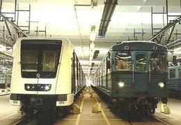 UNDERGROUND SUBWAY METRO RAIL RAILWAY RAILROAD TRAIN BKV ALSTOM METROPOLIS FEHER STREET BUDAPEST * Top Card 0367 Hungary - Métro