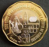 MEXICO 2020 $20 VERACRUZ 500th. Anniv. BIMETALLIC 12 Sided Commemorative Issue Coin, BU State, Selected - Mexico