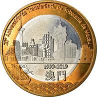 Monnaie, CABINDA, 20 Macutas, 2019, Retour De Macao à La Chine, SPL - Angola