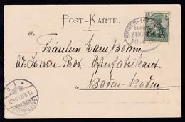 SINGEN-OFFENBURG BAHNPOST ZUG 396 11.8.00 Auf AK  - Germany