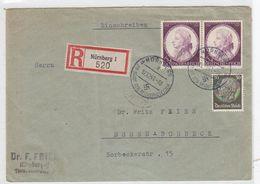 Deutsches Reich R-Brief Mit MIF Und Kleinem SST - Lettres & Documents