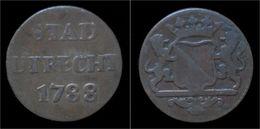 Netherlands Utrecht 1 Duit 1788 - [ 1] …-1795 : Période Ancienne