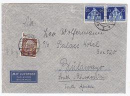 Deutsches Reich FLP-Brief Mit MIF Von Wiesbaden Nach Bulawayo Süd-Rhodesien - Lettres & Documents
