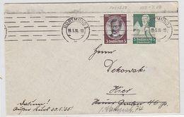 Deutsches Reich Ortsbrief Mit MIF - Lettres & Documents