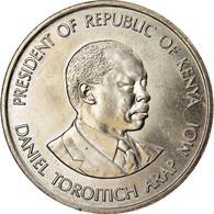 Monnaie, Kenya, Shilling, 1989, British Royal Mint, TTB+, Copper-nickel, KM:20 - Kenya