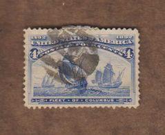 USA  (Y&T) 1893   N°84  *4è Centenaire De La Découverte De L'Amérique*   * 4c *  Obl - 1847-99 Unionsausgaben