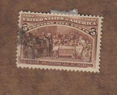 USA  (Y&T) 1893   N°85  *4è Centenaire De La Découverte De L'Amérique*   * 5c *  Obl - 1847-99 Unionsausgaben