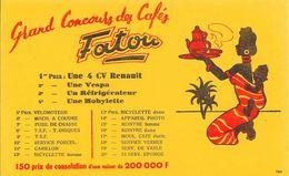 Buvard - Grand Concours Des Cafés Fatou - 1er Prix : Une 4 CV Renault, 2e - Une Vespa - 3e - Un Réfrigérateur .......... - Café & Thé
