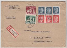 Deutsches Reich R-Brief Mit ZD-Frankatur Nach Kelbra - Lettres & Documents