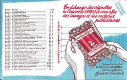 Buvard - En échange Des Vignettes La Chicorée LEROUX Vous Offre Des Images Et Des Cadeaux Publicitaires - Café & Thé