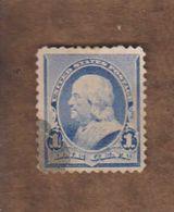 USA  (Y&T) 1870-82   N°39  *B. Franklin*   * 1c *  Obl - 1847-99 General Issues