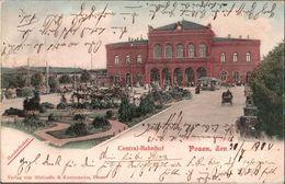 ! Alte Ansichtskarte Aus Posen, Bahnhof, 1900, Tram, Gare, Dworzec, Poznan - Posen